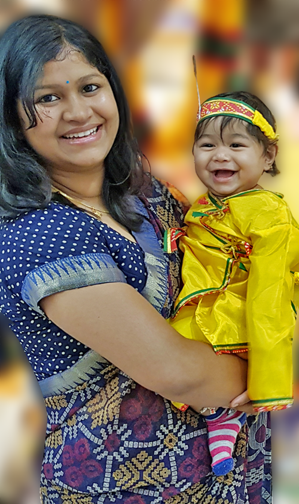 Nirupama Rout and her chlid
