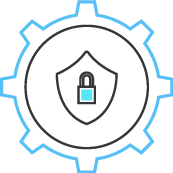 This is the Security icon. It is shaped like a lock.