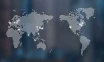 Background menu image - Global & Centers Map