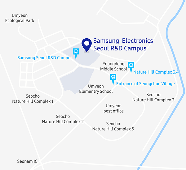 Samsung Research Seoul R&D Campus Map