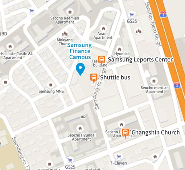 Samsung Finance Campus map