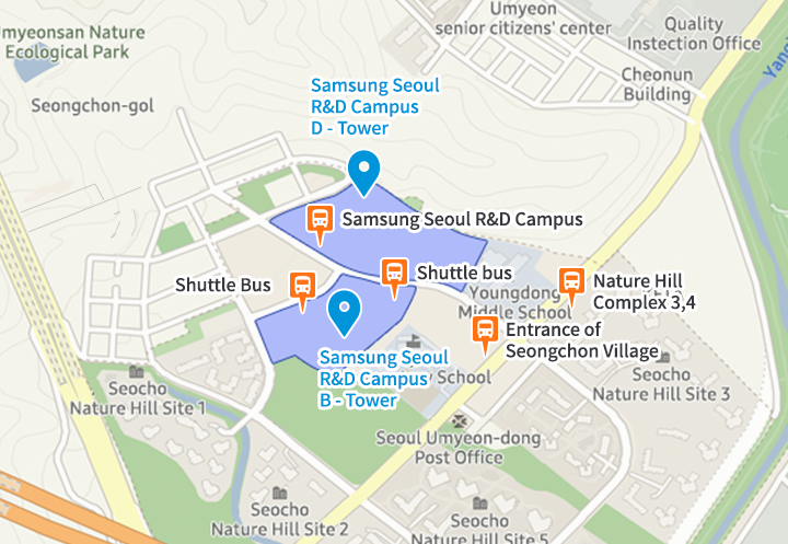 Samsung Electronics Seoul R&D Campus map