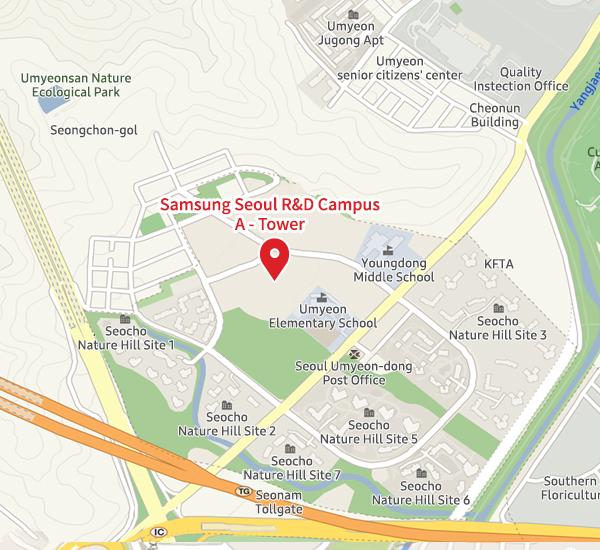 Samsung Electronics Seoul R&D Campus map