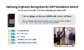 Samsung's 5G Experts: 3GPP Excellence Award Winners