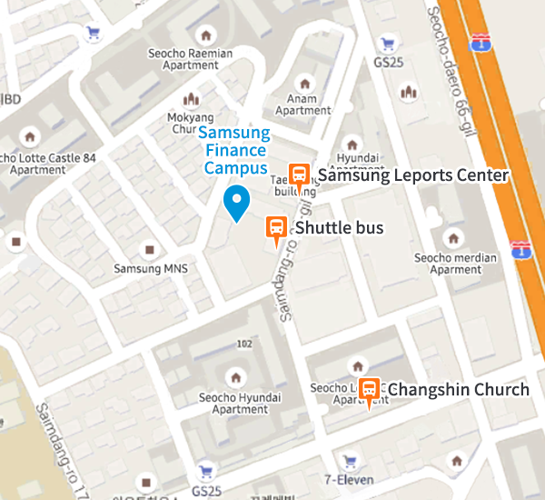 Samsung Finance Campus map